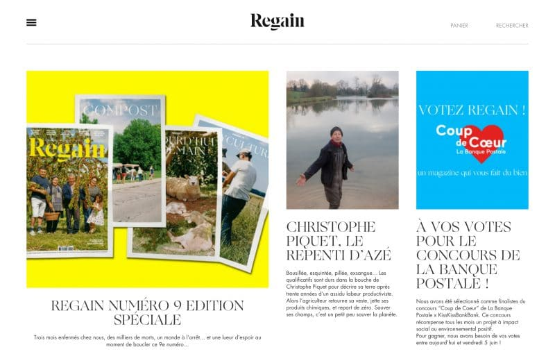 Regain Magazine, un journal de campagne.